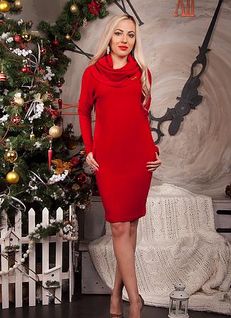 Теплое платье туника из ангоры большой размер, фото 2