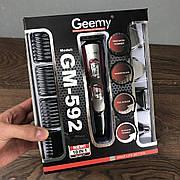 Триммер с насадками Gemei GM-592 беспроводная аккумуляторная машинка для стрижки волос и бороды 10 в 1