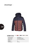 Куртка зимняя мужская Snowimage SICB-V152(коричн.синий)