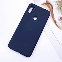 Чехол Soft Touch для Samsung Galaxy A11 (A115) силикон бампер темно-синий