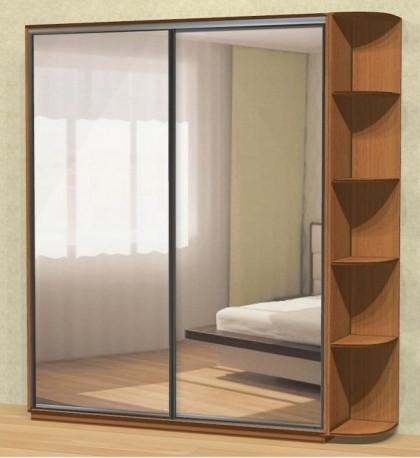 Шкаф купе 02 1800х450х2400 Алекса мебель
