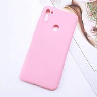 Чехол Soft Touch для Samsung Galaxy A11 (A115) силикон бампер светло-розовый