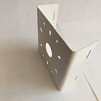 Кронштейн металлический «BizBez» (КМС1-одинарный) для крепления камеры видеонаблюдения и прожекторов освещения