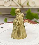 Старий бронзовий дзвіночок, чернець, бронза, Англія, винаж, фото 4