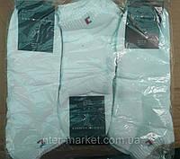 Чоловічі шкарпетки брендові короткі білі упаковка 12 шт, фото 1