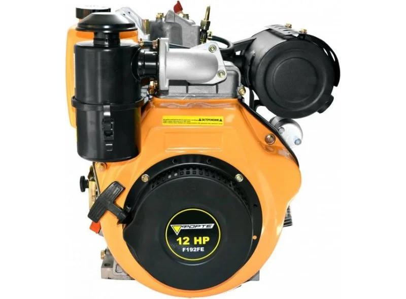 Двигатель дизельный Forte F192FЕ (12 л.с., электростарт, шпонка, вал 25мм)