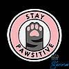"""Термоаппликация """"Stay Pawsitive"""" (Оставайся пассивным)"""