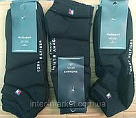 Чоловічі шкарпетки брендові короткі чорні упаковка 12 шт, фото 1