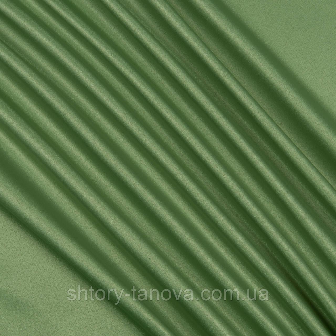 Декоративный атлас корсика зеленый