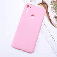 Чехол Soft Touch для Samsung Galaxy M11 (M115) силикон бампер светло-розовый