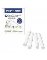 Мелки белые Magnetoplan с защитной плёнкой 12 шт
