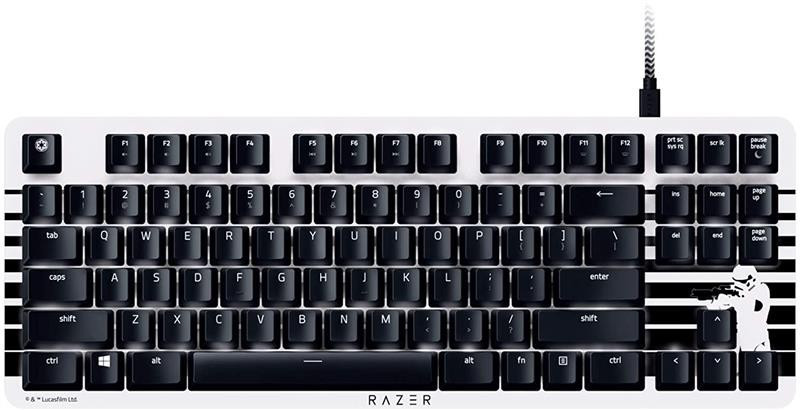 Клавіатура Razer BlackWidow Lite Silent Stormtrooper Orange Switch White (RZ03-02640800-R3M1) USB