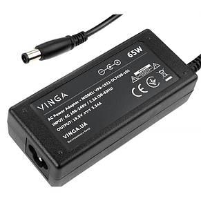 Блок живлення до ноутбука Vinga DELL 65W 19.5 V 3.34 A роз'єм 7.4*5.0 (VPA-1933-DL7450-101), фото 2