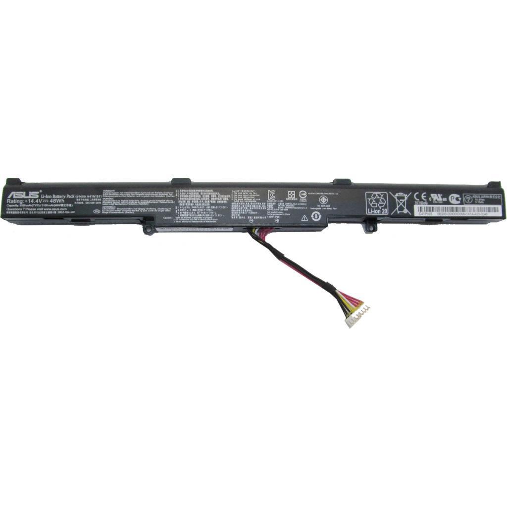 Аккумулятор для ноутбука ASUS ROG GL553/GL753 A41N1611, 3350mAh (48Wh), 4cell, 14.4V, Li-i (A47194)