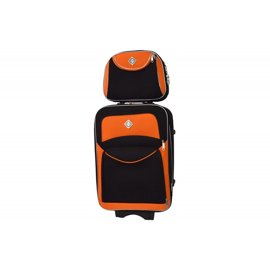 Комплект валіза + кейс Bonro Style (середня) чорно-оранжева