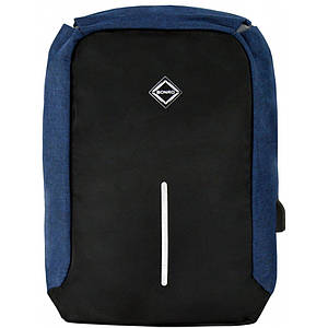 Рюкзак антизлодій Bonro з USB 17 л синій