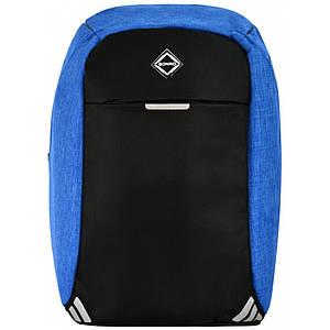 Рюкзак антизлодій Bonro з USB 20 л блакинтий