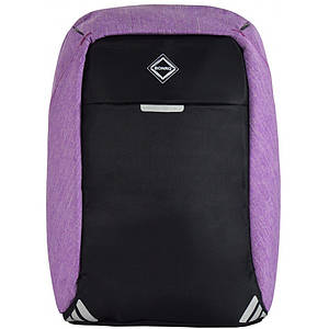 Рюкзак антизлодій Bonro з USB 20 л фіолетовий