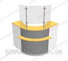 Угловой кассовый прилавок (внутренний угол)