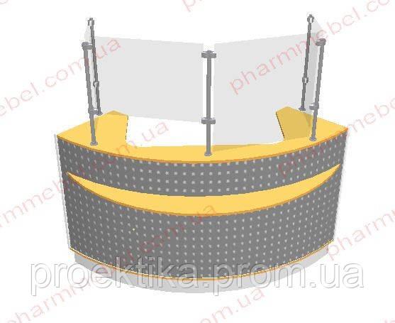 Угловой кассовый прилавок (внешний угол)