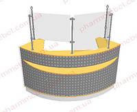 Угловой кассовый прилавок (внешний угол), фото 1