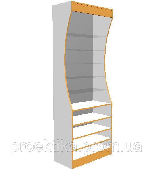 Шкаф для аптеки с изогнутым верхом
