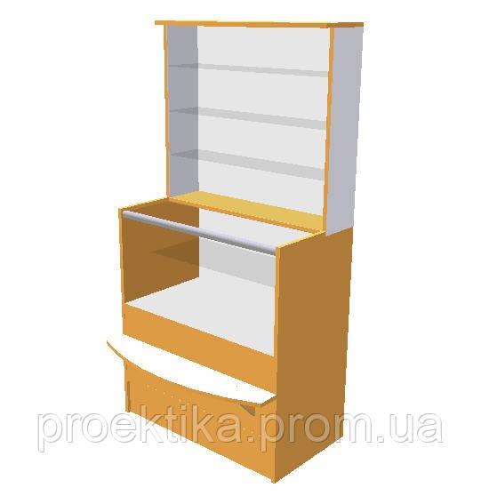 Прилавки для аптеки с витринной надстройкой