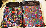 "Молодежные сумки-рюкзаки ""затяжки"" с супергероями Brawl Stars (2цвета)31х40см, фото 2"