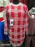 Кардиган травка с карманами красный 24008