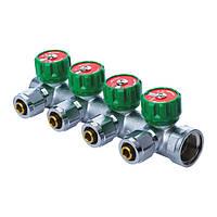 Коллектор вентильный с фитингом KOER KR.1121-4 3/4 x4 WAYS (KR2652)