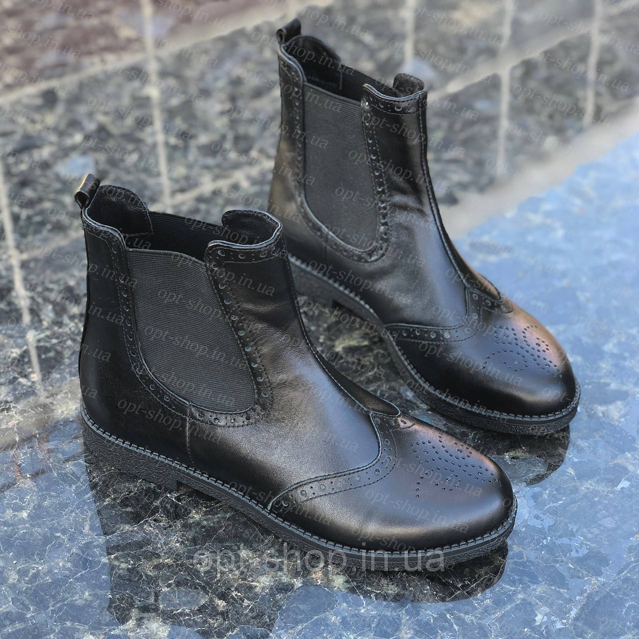 Ботинки челси женские осенние демисезонные кожаные черевики жіночі челсі (код:W-челси)
