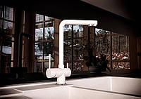 Смеситель кухонный с подключением к фильтру KAHER MARIS 07 белый