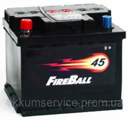 Аккумулятор автомобильный FireBall Standart 45AH R+ 390A