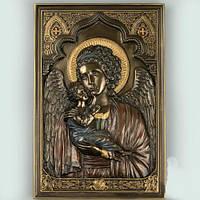 """Икона """"Дева Мария с младенцем"""" 23*16 см. (Полистоун с бронзовым  покрытием)"""
