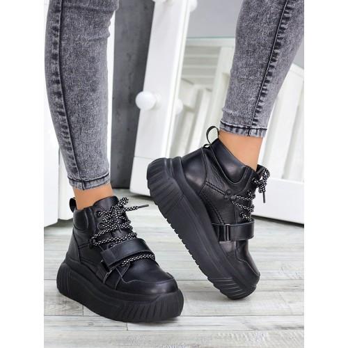 Ботинки демисезонные женские кожаные на платформе