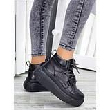 Ботинки демисезонные женские кожаные на платформе, фото 4