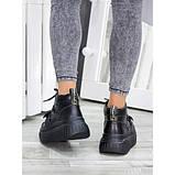 Ботинки демисезонные женские кожаные на платформе, фото 3
