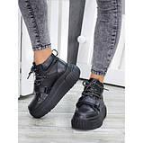 Ботинки демисезонные женские кожаные на платформе, фото 5