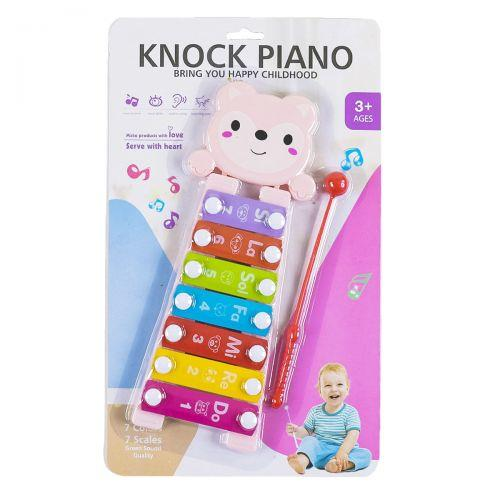 "Ксилофон ""Knock Piano"", 7 тонов, розовый  sco"
