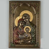 """Фирменная скульптура - икона """"Святая семья"""". 16х23 см. Veronese"""