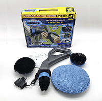 Щетка для уборки Muskle Scrubber, Беспроводная электрическая щетка для уборки 3 в 1, фото 1