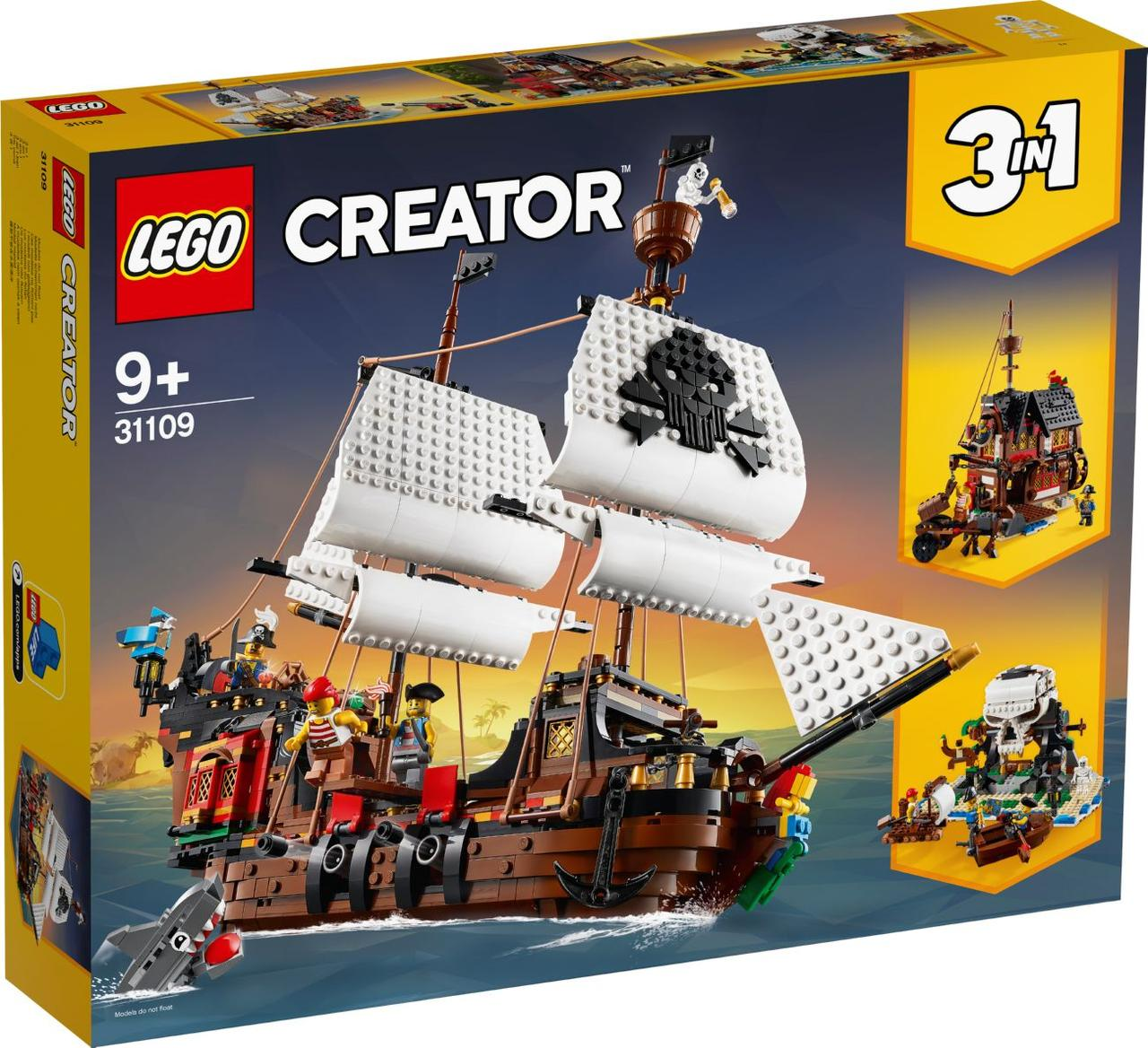 Lego Creator Піратський корабель Лего креатор 31109