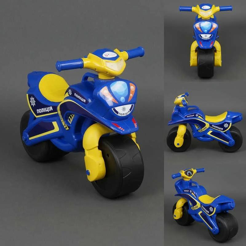 """Мотобайк """"Поліція"""" музич. (синьо-жовтий), арт. 0139/57, Фламинго (Долони)"""