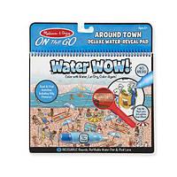 Многоразовые блокноты для рисования водой и поиска предметов с лупой Море Water WOW Melissa and Dough