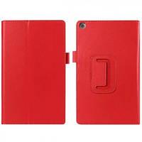 Кожаный чехол-книжка TTX с функцией подставки для Asus ZenPad 7 Z370 Красный