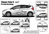Молдинги на двері для Nissan Note II E12 2013-2017, фото 7