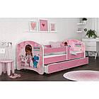 Детская кровать с бортиками и ящиком Luki П160х80 см (50L) + матрас, фото 2