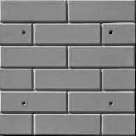 Форма из АБС пластика для фасадной плитки № 3 Размеры: 500х500х20 мм, (4 шт/м2)