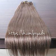 Натуральные волосы на заколках 50 см, 10 прядей, коричневый с рыжеватым отливом, 06