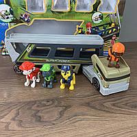 Игровой набор фигурок Paw Patrol Щенячий патруль трейлер мини патрулевоз Спасатели в Джунглях 4 щенка